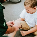 Home Safety - Kid With Hurt Knee
