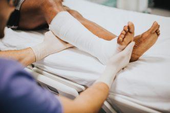 Fractured leg