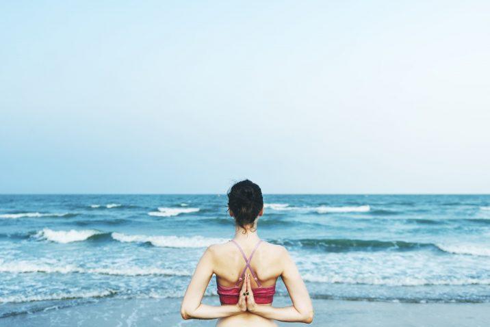Woman in nature healing