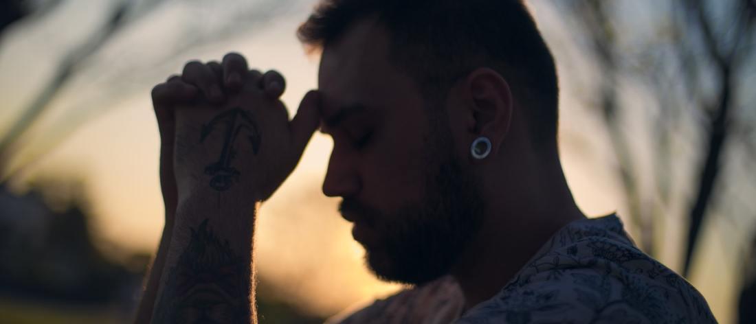 Man praying - spirit of wellness
