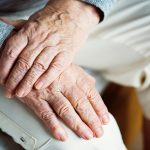 Elderly arthritic hands