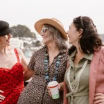Healthy women with PMS or Menopause, standing by the ocean