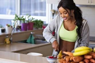Woman preparing a nutritious meal