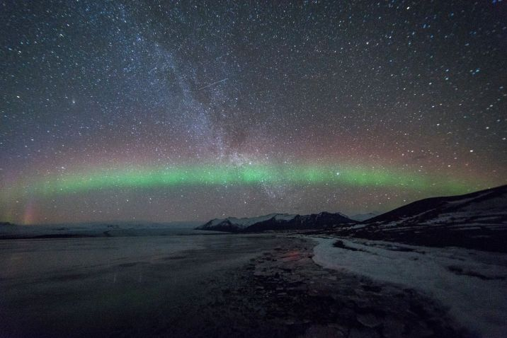 Night sky with northern lights - Black Holes of Renewal
