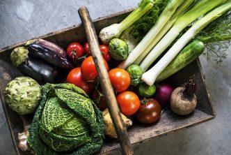 Basket of Healthy Vegetable