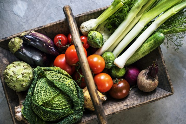 Basket of Healthy Vegetable