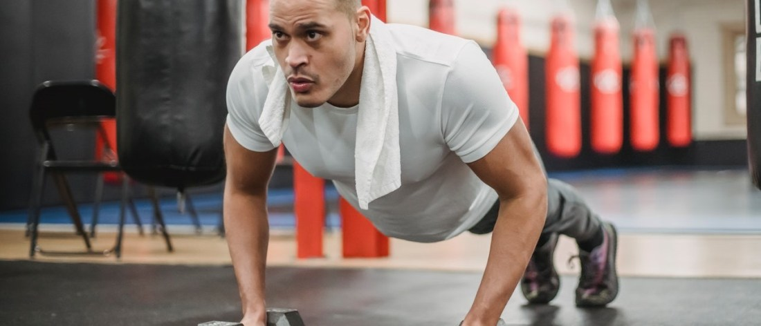 Man with healthy bones working out
