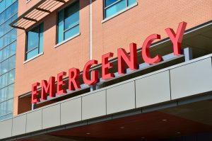 Outside of an emergency center