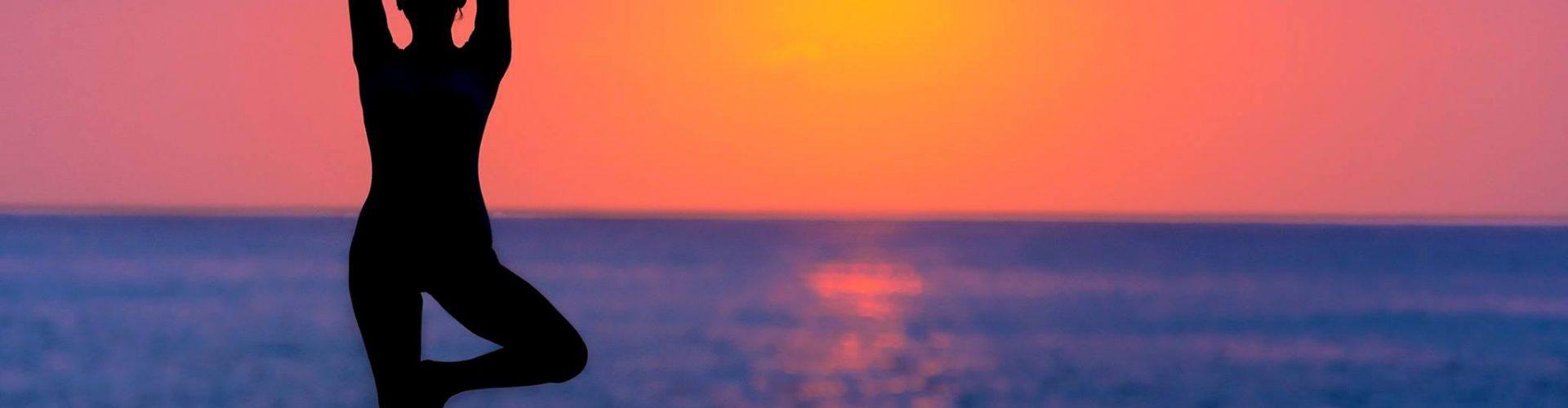 Woman doing a healing yoga pose
