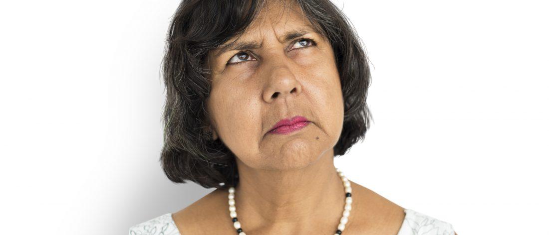 Grumpy woman