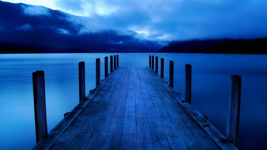 Silent dock on the water
