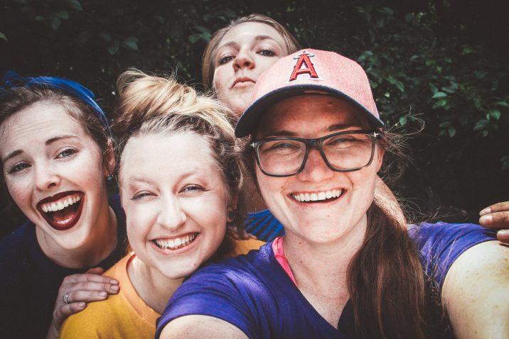 Four Women laughing at something humorous