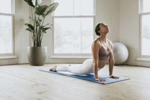 Woman performing an Ashtanga pose
