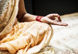 Woman in India practicing yoga