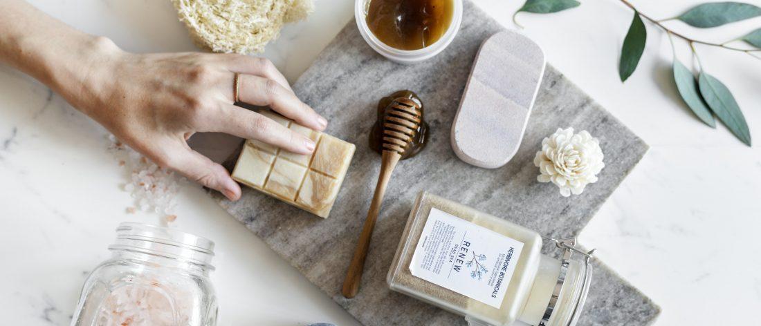 Woman making aromatherapy ingredients