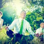 business people meditating - Science of meditation