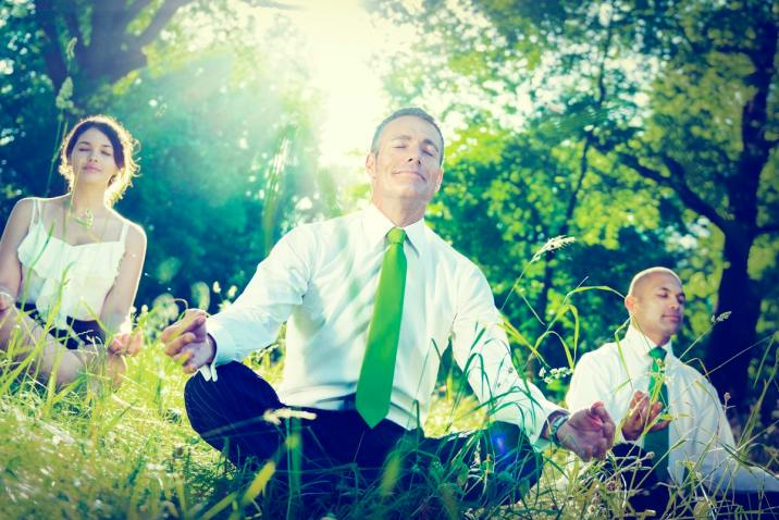 business people meditating - Science of meditation