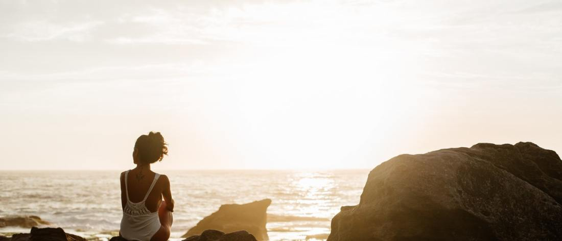 Woman on beach - I Fled Him Down - Devine self