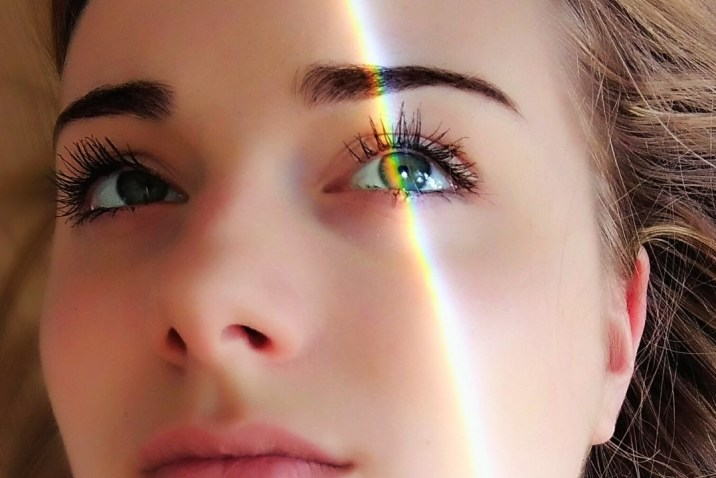 Woman with light on her face - Intuitively Making Smart Decisions