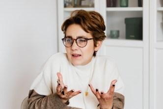 Menopausal woman looking confused